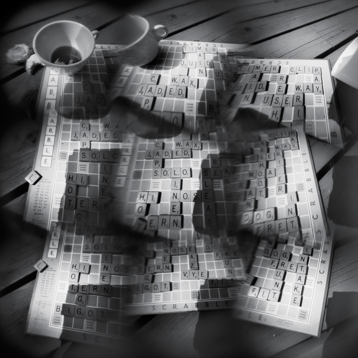 Scrabble - pinhole camera photograph