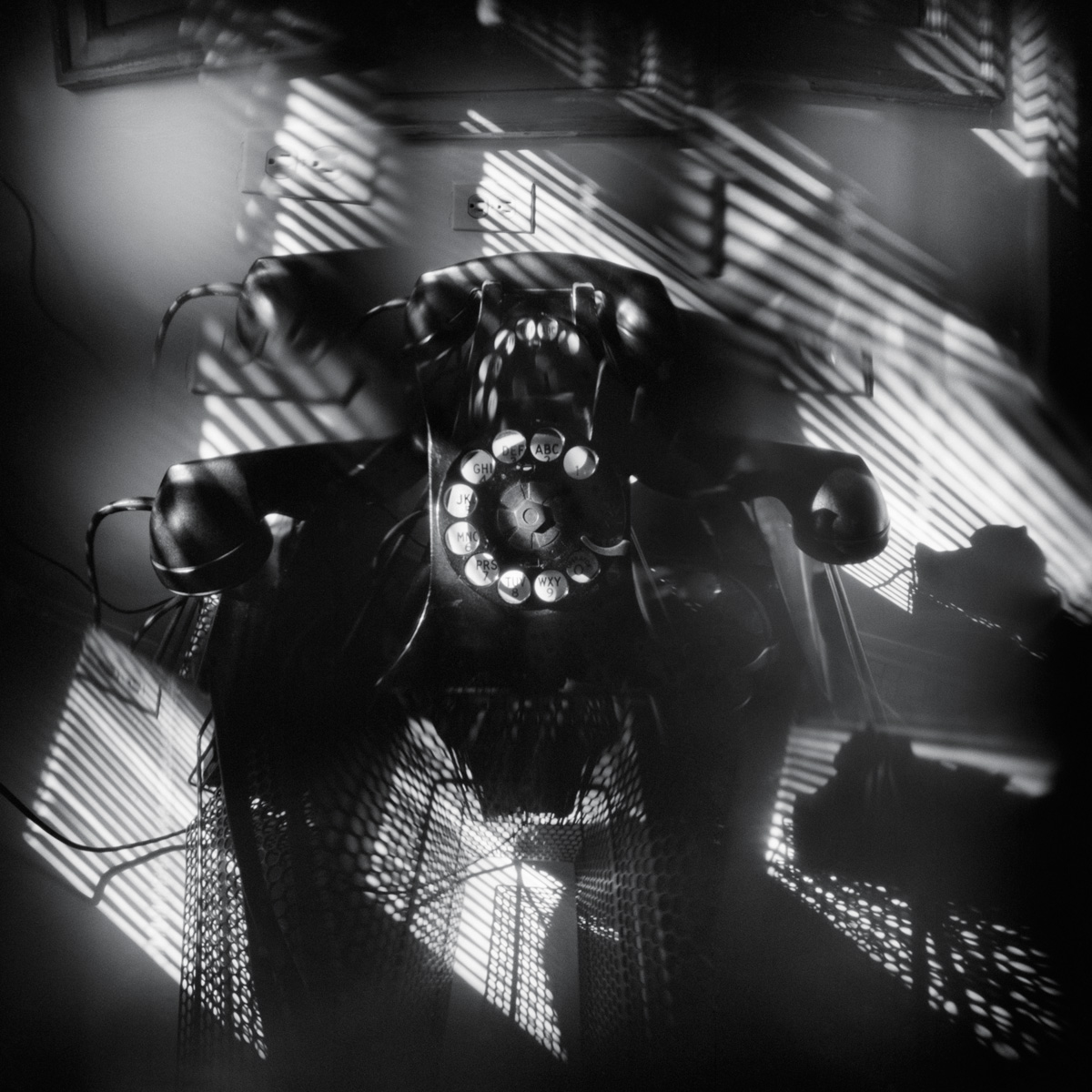 Telephone - pinhole camera photograph