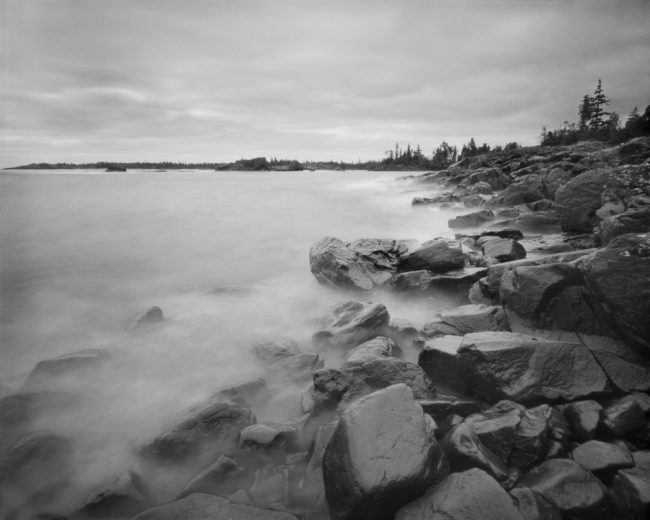 Blake Point, Isle Royale - pinhole camera photograph