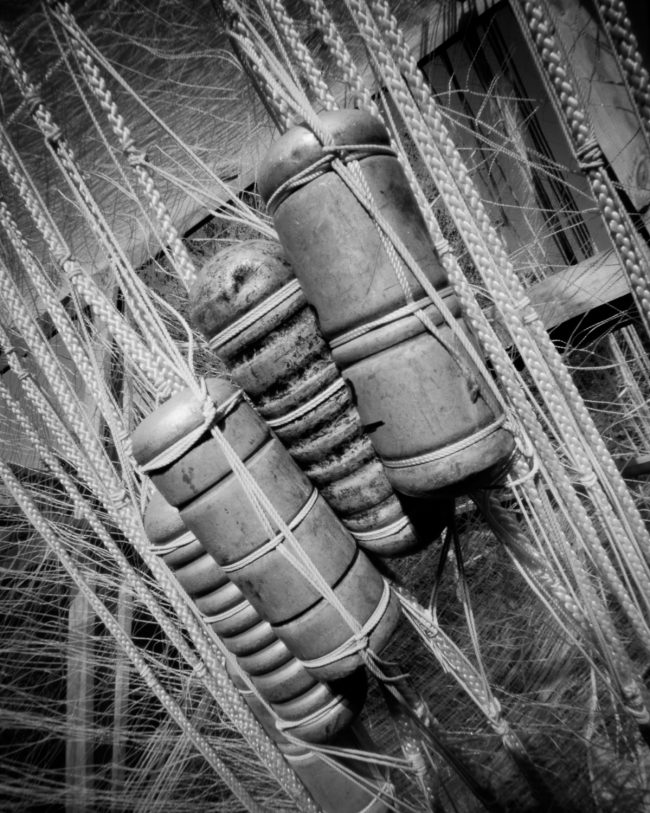 Edisen Fishery Floats, Isle Royale - pinhole camera photograph