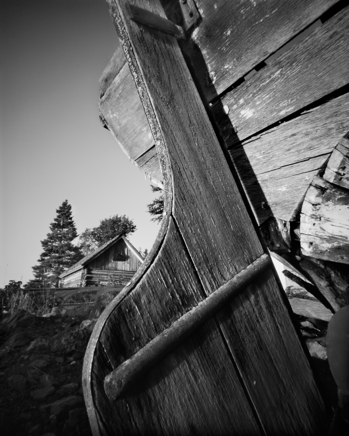 Edisen Fishery Rudder, Isle Royale - pinhole camera photograph