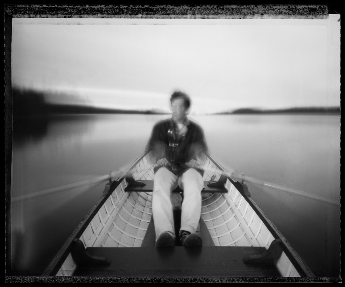 John Snell, Tobin Harbor, Isle Royale - pinhole camera photograph