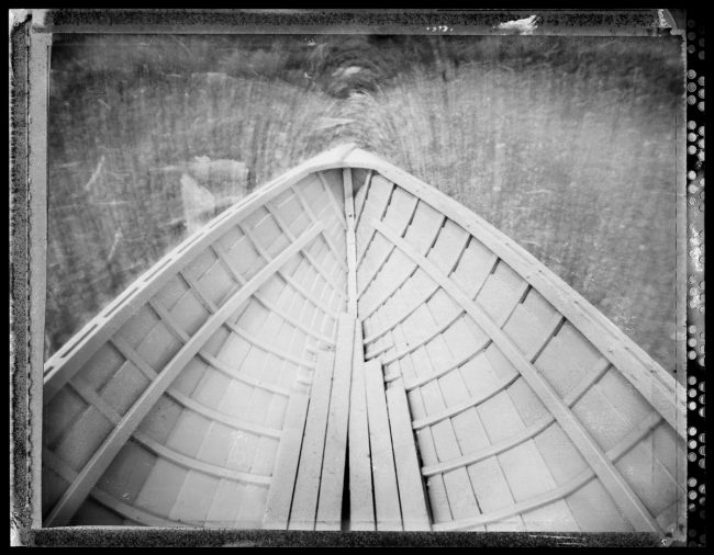 Rocking Boat, Isle Royale - pinhole camera photograph
