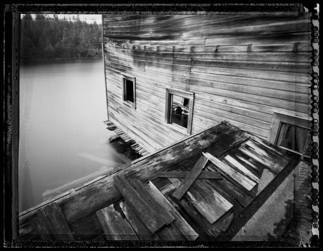 Savage Boathouse, Isle Royale - pinhole camera photograph
