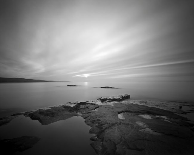 Artist Point Sunrise - pinhole camera photograph