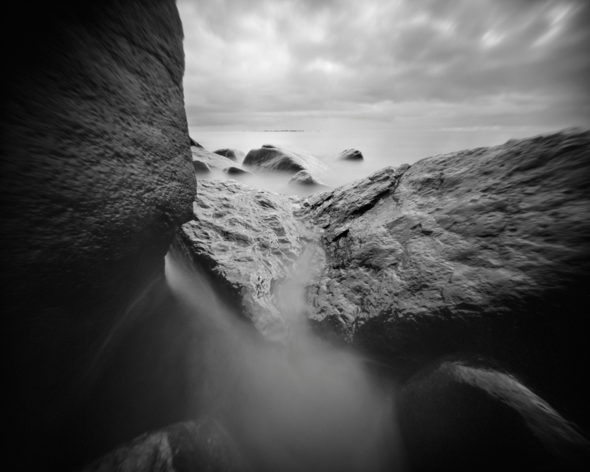 Basin - pinhole camera photograph