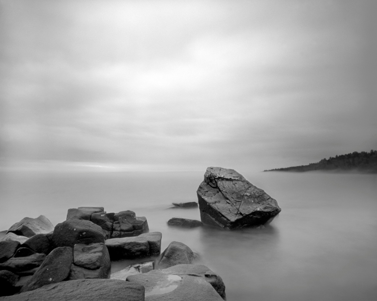 Erratic, Cove Point - pinhole camera photograph