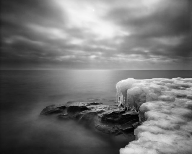 Ice Point, Lake Superior - pinhole camera photograph