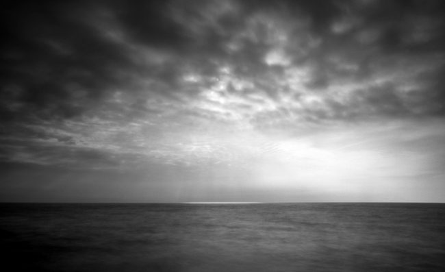 Solar - pinhole camera photograph, Lake Superior