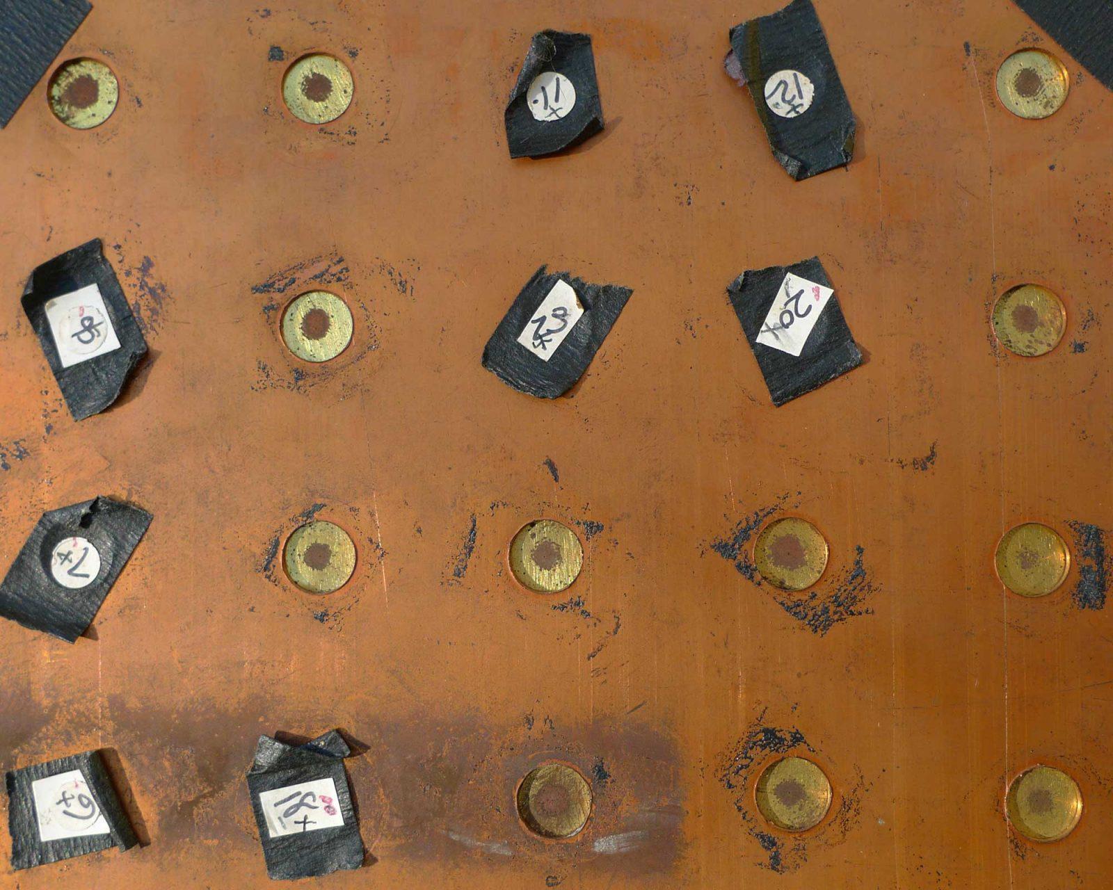 Close Up of 25 Aperture Pinhole Camera