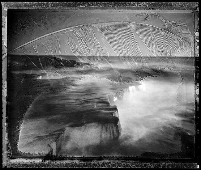 Artist Point and Feather - pinhole camera photograph