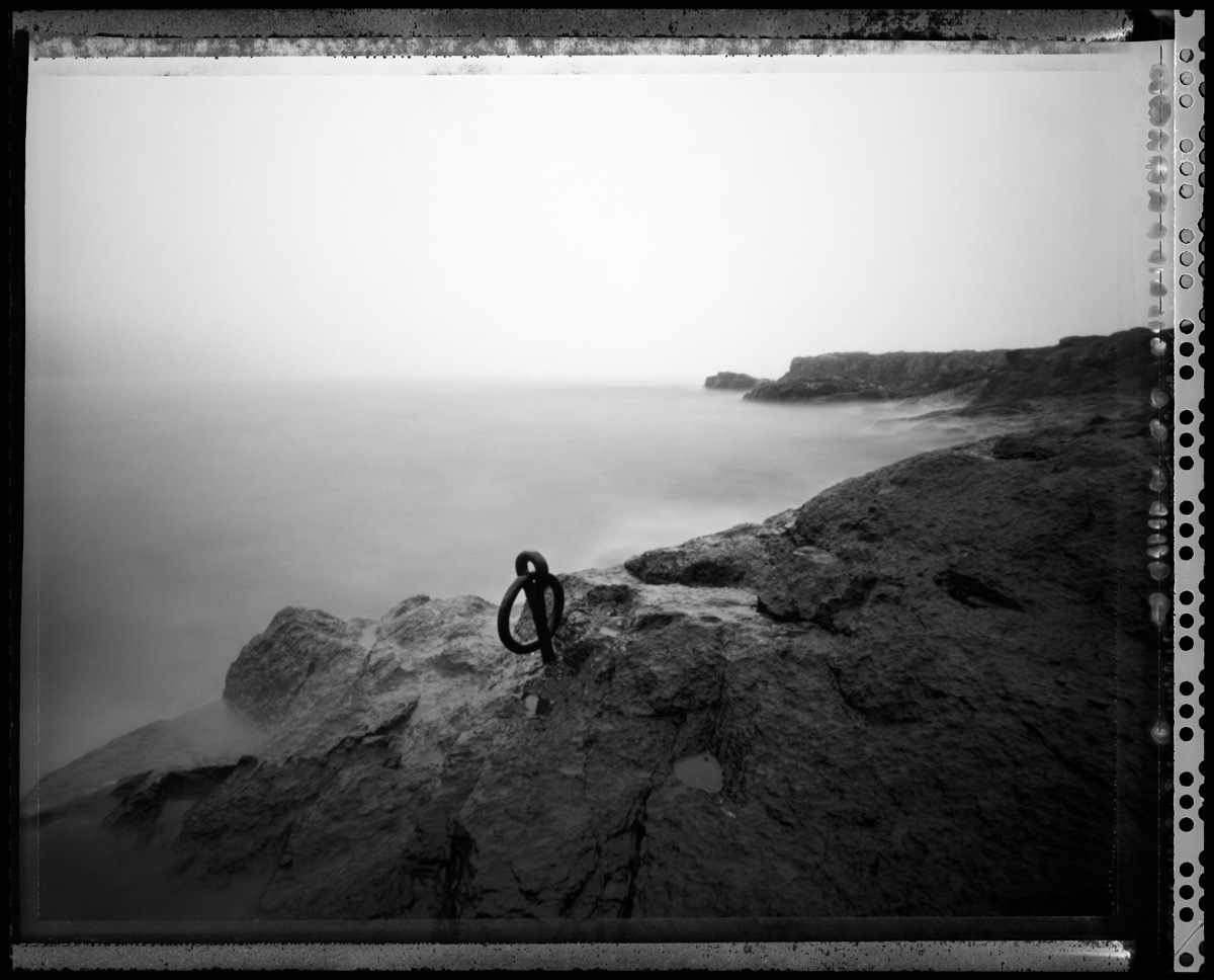 Mooring - pinhole camera photograph, Lake Superior