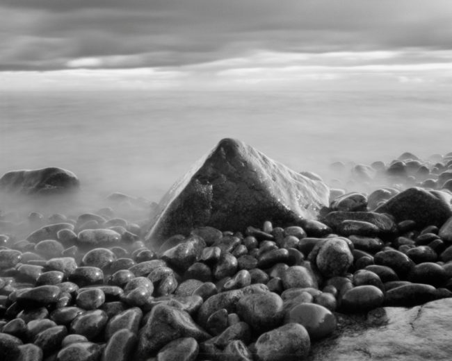 Pyramid - pinhole camera photograph, Lake Superior
